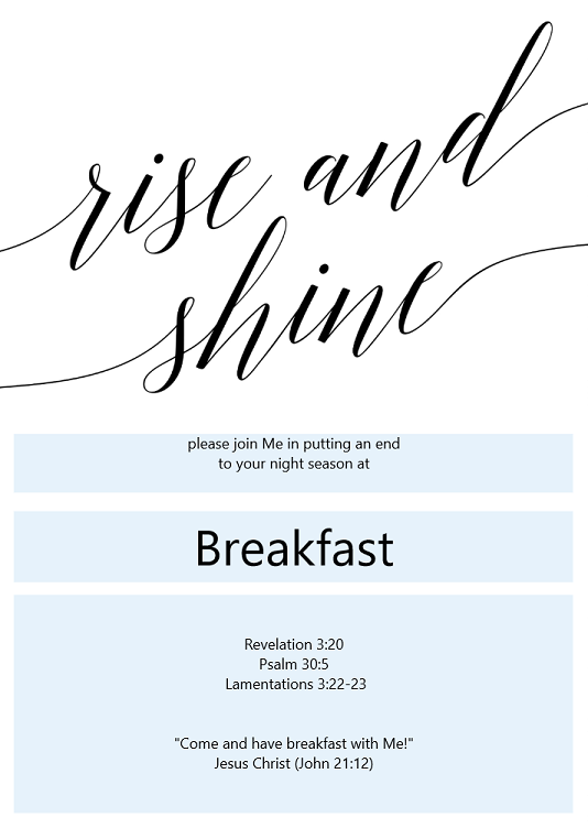 e invite to breakfast